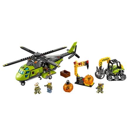 lego city volkan malzeme helikopteri 60123