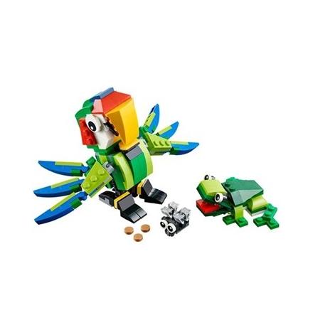 lego creator yağmur ormanı hayvanları 31031