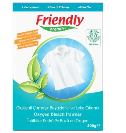 friendly organic oksijenli toz çamaşır beyazlatıcı ve leke çıkarıcı
