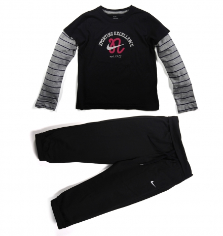Nike LS Campus Top Sweat Siyah Gri