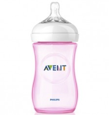 Philips Avent SCF694/17 Natural PP Biberon 260ml Tekli - Pembe