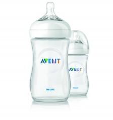 Avent İkili PP Biberon 260 ml/Naturel